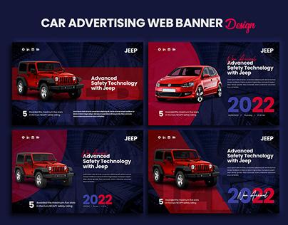 Car Advertising Web Banner Design
