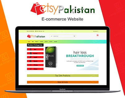 ETSY PAKISTAN E-COMMERCE WEBSITE