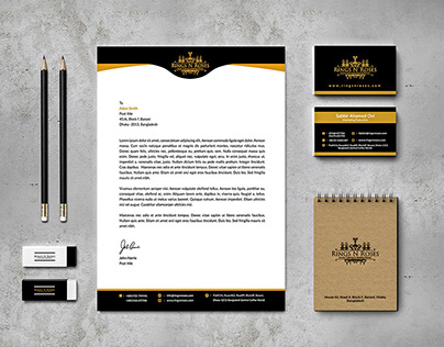 """Rings N Roses"" stationery branding"