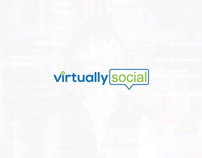 virtually social company's logo