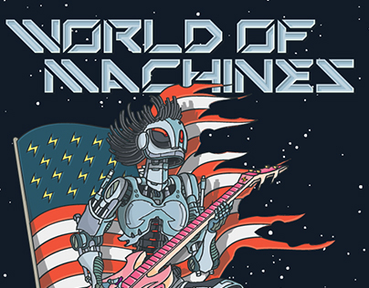 poster WORLD OF MACHINES rock band