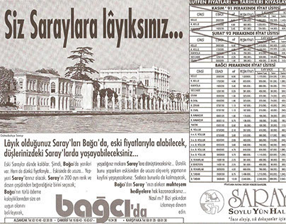 Gazete ilanı | Newspaper announcement | Saray Halı