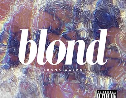 'BLOND' - album design