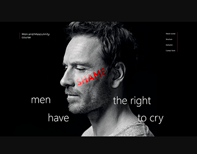 Landing for Men and Masculinity Course