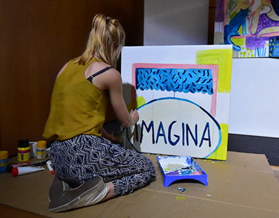 "Live painting at Cidade Mais conference ""Imagina"""
