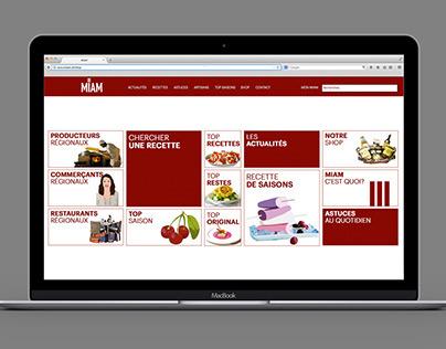 MIAM - Culinary website