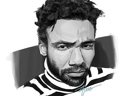Donald Glover Digital Sketch.