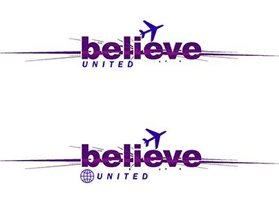 Belive United Logo design