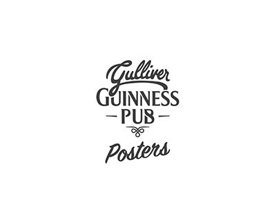 Gulliver Guinness Pub Posters