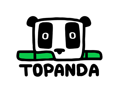 Logo and character design for Topanda marketing agency.