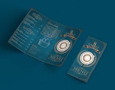 Food Menu Tri Fold Brochures