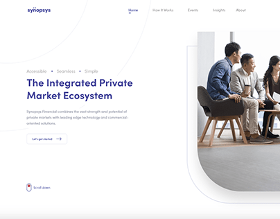 Corporate Webpage Design Concept