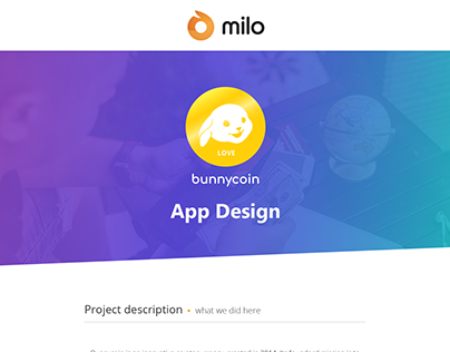 Bunnycoin App Design - by Milo