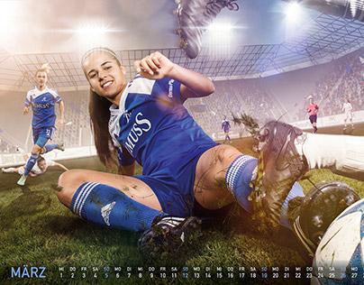 Calendar 2017 Women Soccer Team Switzerland