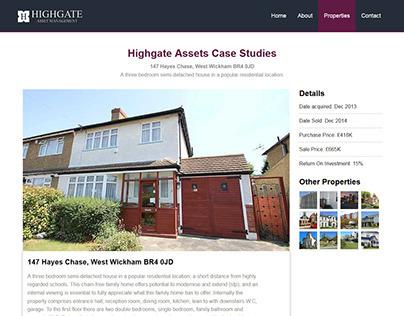 Financial Company Properties Website