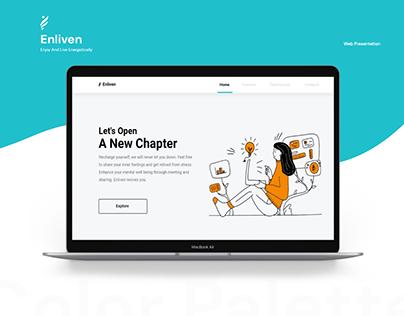 Enliven - Website Presentation
