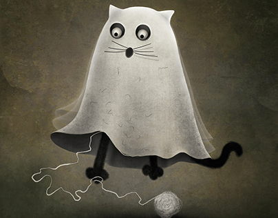 Illustration - ghost cat