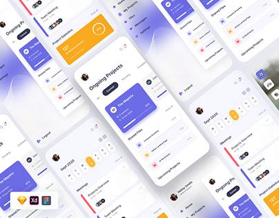 Free Project UI Design Template Sketch Figma