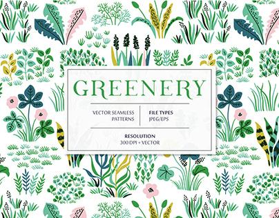 Greenery seamless pattern