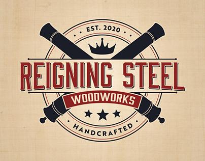 Reigning Steel Woodworks Logo Design