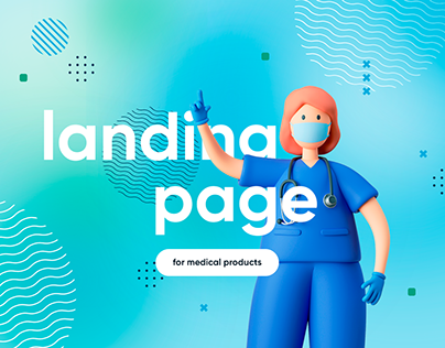 Landing page for medical products