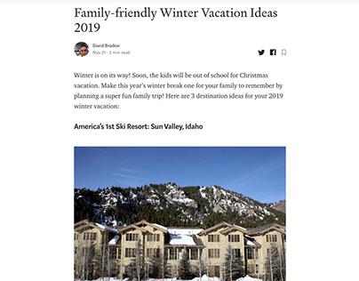 Winter Vacation Ideas (Medium blog post)