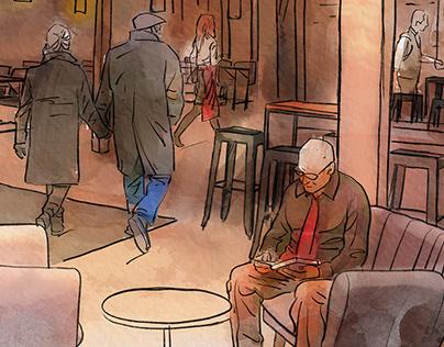 Layout Illustration/ Restaurant Project