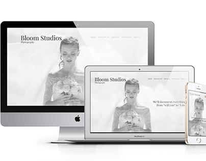 Bloom Studios // Wedding Photographer Website Template