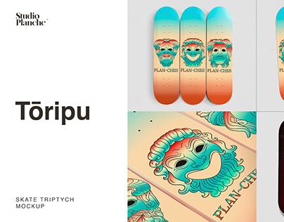 Tōripu — Skate Triptych Mockup