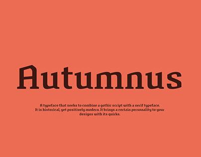 Autumnus – typeface