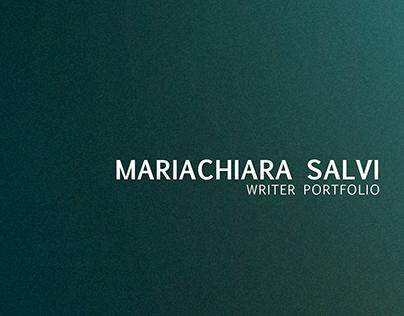 Mariachiara Salvi Writer Portfolio ITA