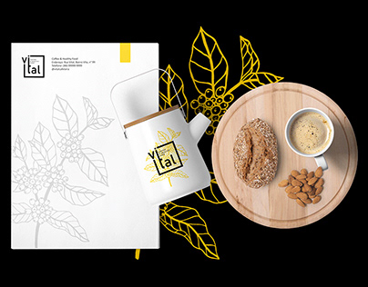 Vital Coffee & Healthy Food - Visual Identity