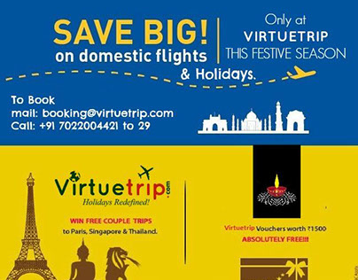Virtuetrip Leisure Digital Marketing promo materials