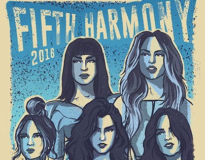 Official 7/27 Tour Poster - Fifth Harmony 2016