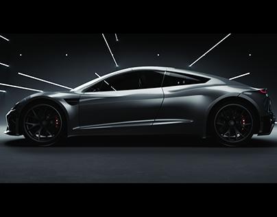 A Tale Of Light - Tesla Roadster 2020