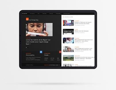 Orange live blog
