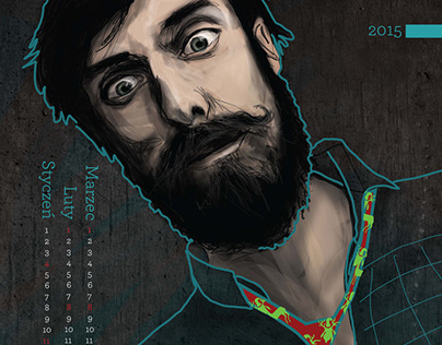 Brododendarz na 2015 rok // Beardcalendar for year 2015