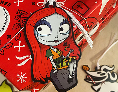 'The Nightmare Before Christmas' gift tags