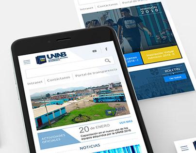 Diseño website UNAB