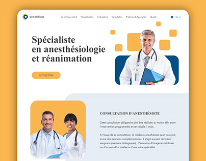 Landing page for a private clinic