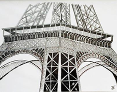 Tour Eiffel-encre