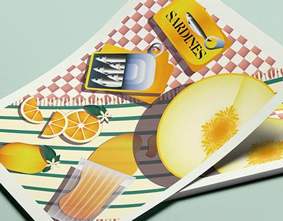 Editorial Food Illustration #01
