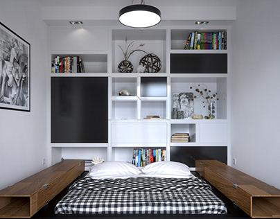 Contemporary flat in Poznań, Poland - 40 m²