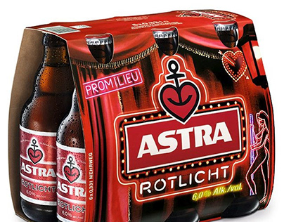 Astra Rotlicht - Relaunch Packaging
