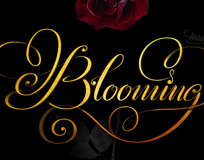 Blooming typography by Thuy Mattit
