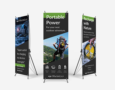 Print: WaterLily trade show banners