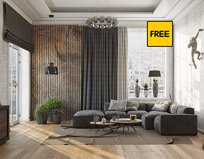 Free 3D Interior Scene Small Livingroom