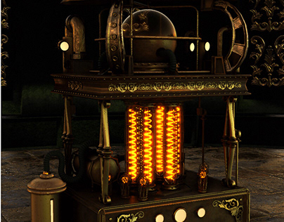 Steampunk Machine Concept // Portable Flux Capacitor //