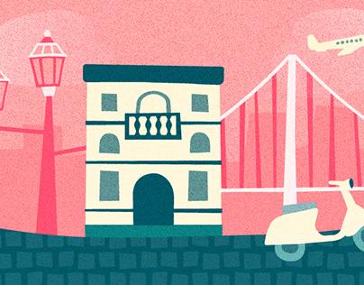 destinations illustrations