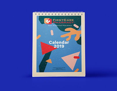 Print: FirstCare Pharmacy desk calendar